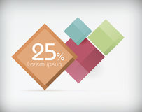 Abstract promotional banner. Vector illustration Royalty Free Stock Photos