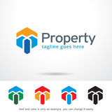 Abstract Property Logo Template Design Vector. This design suitable for logo or icon. Color and text can be changed easily stock illustration