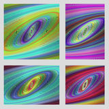 Abstract psychedelic brochure background set Royalty Free Stock Photography