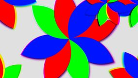 Abstract psychedelic flowers. 3d rendering. Abstract background Royalty Free Stock Photos