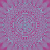 Abstract psychedelic mandala fractal background - circular vector pattern design from concentric oval shapes stock illustration