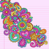 Abstract Psychedelic Notebook Doodles Vector Stock Images