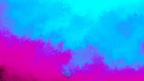 Abstract psychedelic skies with cyan clouds