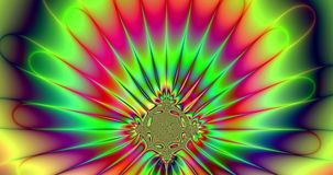 Abstract psychedelic trippy colorful star explosion video