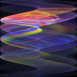 Abstract psychedelic waves on black background. Royalty Free Stock Photo