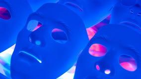 Abstract psycho masks stock video