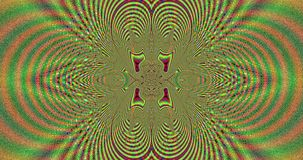 Abstract pulsating highly psychedelic colorful fractal video with a detailed interconnected arches and rings coming from center stock video footage