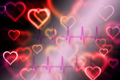 Abstract pulse with magic heart Royalty Free Stock Photos
