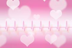 Abstract pulse with magic heart Stock Photos