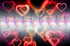Abstract pulse with magic heart Royalty Free Stock Image