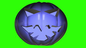 Abstract pumpkin head in dark blue stock video