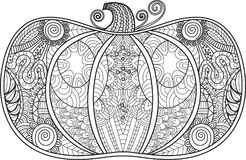 Abstract pumpkin with high detail for coloring book. Stock Photo