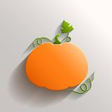 Abstract Pumpkin over White Background Stock Images