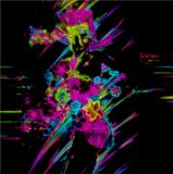 Abstract ,Punk  Neon Party Girl. Royalty Free Stock Photo