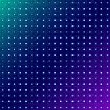 Abstract punten gloeiend radiaal patroon op blauwe ruimteachtergrond vector illustratie