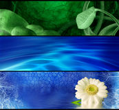 Abstract purification. Purity and  meditation banners for your design Royalty Free Stock Photos
