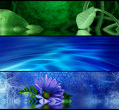 Abstract purification. Purity and  meditation banners for your design Stock Photography