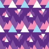 Abstract purper de drukpatroon van bergendriehoeken vector illustratie
