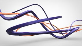 Free Abstract Purple 3D Shapes And Flows Royalty Free Stock Image - 98898506