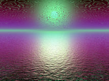 Abstract purple 3d sunset Stock Images