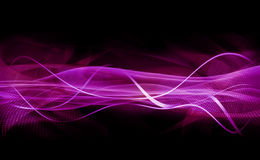 Abstract Purple. An abstract illustrative image of twisting strips and mesh textures in purple Royalty Free Stock Photo