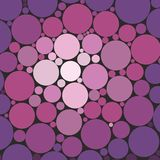 Abstract purple background with dots. And circles Royalty Free Stock Images