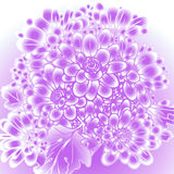 Abstract purple background with flowers. Illustration abstract purple background with flowers Royalty Free Stock Photography