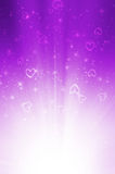 Abstract purple background with heart. Stock Photos