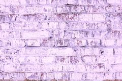 Abstract purple background from old brick wall in retro style royalty free stock images