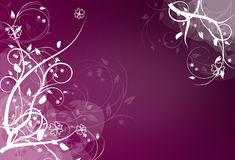 Abstract purple background with ornaments Stock Photography