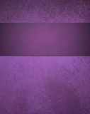 Abstract purple background with ribbon stripe stock image