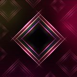 Abstract purple background with shining multicolored squares Royalty Free Stock Images
