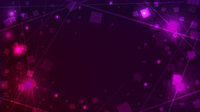 Abstract purple background with square sequins and lines Stock Image