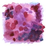 Abstract purple background - watercolor hand painted composition of purple, pink and blue strokes. Abstract watercolor hand painted composition of purple, pink Stock Photography