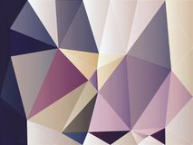 Abstract purple black while gold color polygon wallpaper. Abstract purple black while gold color polygon background Stock Photo