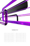 Abstract purple, black and white background stock illustration