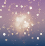 Abstract purple and blue bokeh glittering  effect Royalty Free Stock Photography