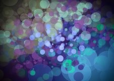 Abstract purple blue color bokeh wallpaper Stock Image