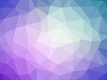 Abstract purple blue gradient polygon shaped background.  Stock Photo
