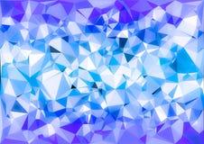 Abstract purple blue shiny low poly bokeh wallpaper Royalty Free Stock Photo