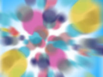Abstract purple bokeh and circles background Stock Image