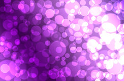 Abstract purple Bokeh circles for Christmas background, glitter stock illustration