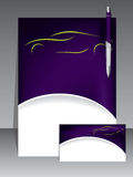 Abstract purple brochure design Stock Photo