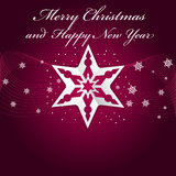 Abstract  purple Christmas background with origami stars Stock Photo
