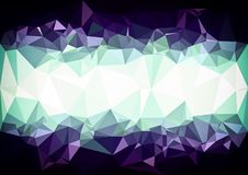 Abstract purple   color shiny low poly bokeh wallpaper Royalty Free Stock Photo