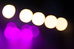 Abstract purple concert lights bokeh Stock Photography