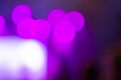 Abstract purple concert lights bokeh Royalty Free Stock Image