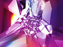 Abstract purple crystal background. Computer generated abstract purple crystal background vector illustration