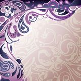 Abstract Purple Curve Royalty Free Stock Image