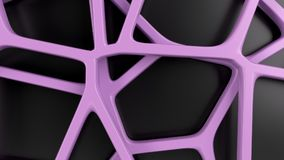 Abstract 3d grate on black background. Abstract purple 3d grate on black background. Speaker grille. Chaotic line structure. 3D render illustration vector illustration